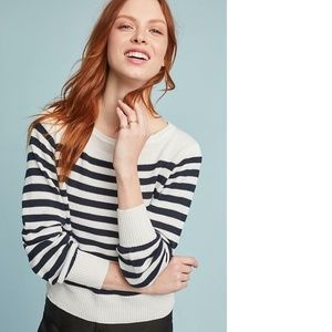 Anthropologie Blaine Striped Pullover new
